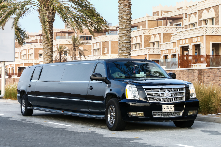 Stretched limousine symbol of luxury.
