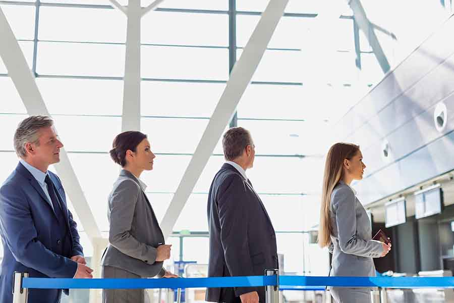 airport escort service to skip the queue